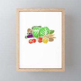 This Is My FarmIng Shirt - Funny Farming Framed Mini Art Print