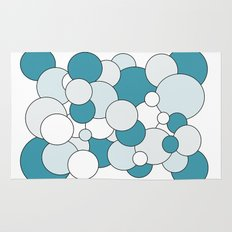 Bubbles - blue, gray and white. Rug