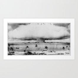 Atomic Bomb Mushroom Cloud Operation Crossroads Baker Test Art Print
