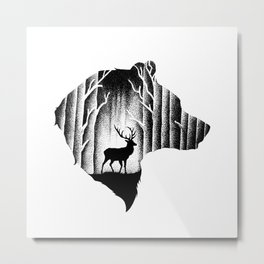 THE BEAR Metal Print