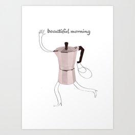 beautiful morning Art Print