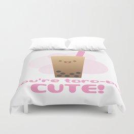 Taro Bubble Tea Duvet Cover