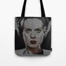 The Bride of Frankenstein Screenplay Print Tote Bag
