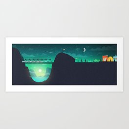 Nightcall Illustration Art Print