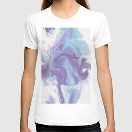 Purple, Blue, and White Abstract T-shirt