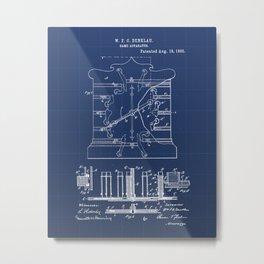 Game Apparatus Vintage Patent Hand Drawing Metal Print