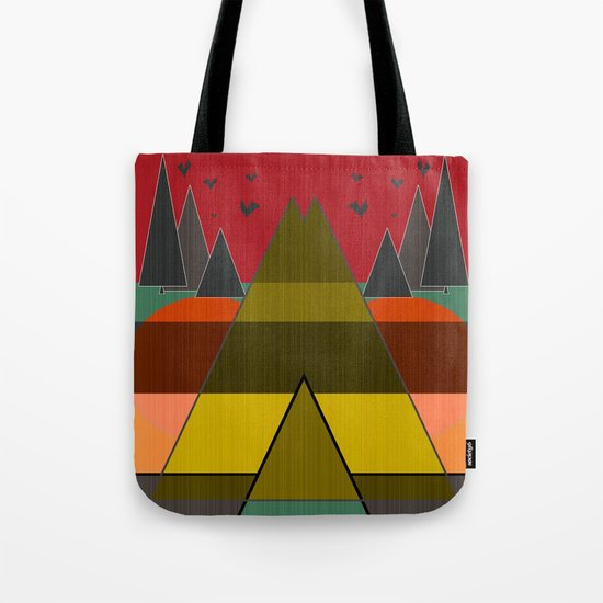 Abstract pattern . Mountains. Tote Bag