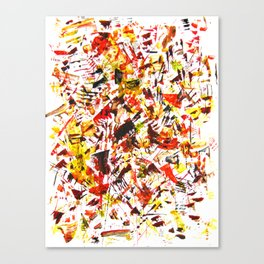 Challigraphy in nature Canvas Print