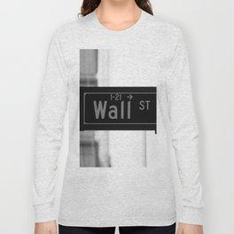 Wall St. Minimal - NYC Long Sleeve T-shirt