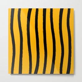 Paint Lines Vertical Bee Metal Print