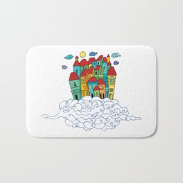 in the clouds Bath Mat