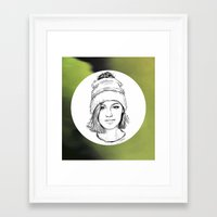 jenna kutcher Framed Art Prints featuring JENNA. by paintparamore