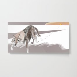 Wolves of the World: Russian Wolf (Canis lupus communis) (c) 2017 Metal Print