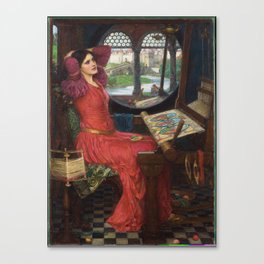 I am Half-Sick of Shadows, said the Lady of Shalott, by John William Waterhouse Canvas Print