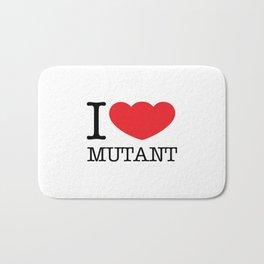 I LOVE MUTANT Bath Mat