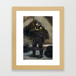 Dystopian Garda Framed Art Print