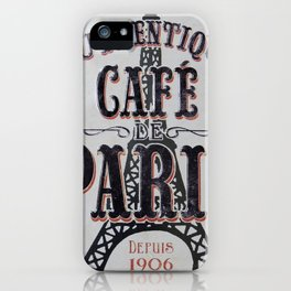 Coffee of Paris | Café de Paris iPhone Case