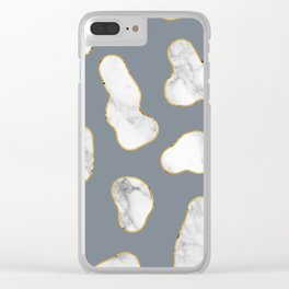 Marble Gold Session IV-XL Clear iPhone Case