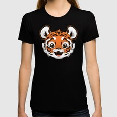 Tiger X-LARGE Black Womens Fitted Tee