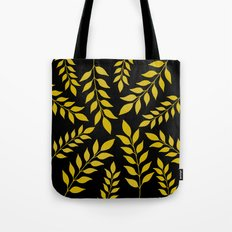 Gold Leaves Pattern Tote Bag