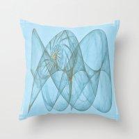 shell Throw Pillows featuring Shell by Susann Mielke