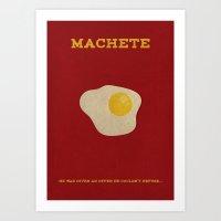 Machete Minimalist Poster Art Print