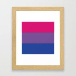 Bisexual Pride Framed Art Print