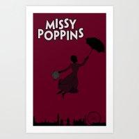 Missy Poppins Art Print