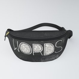the power of words Fanny Pack