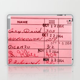 Library Card 23322 Pink Laptop & iPad Skin
