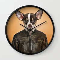 chihuahua Wall Clocks featuring Chihuahua  by Life on White Creative