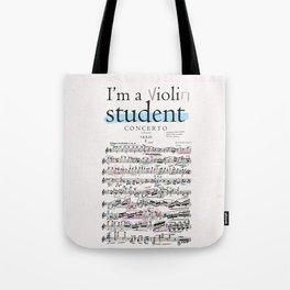 Violin student Tote Bag