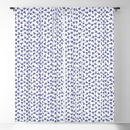 Forget Me Nots - Blue on White Blackout Curtain