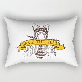 Save The Bees Rectangular Pillow