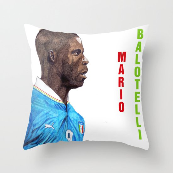 Balotelli Throw Pillow