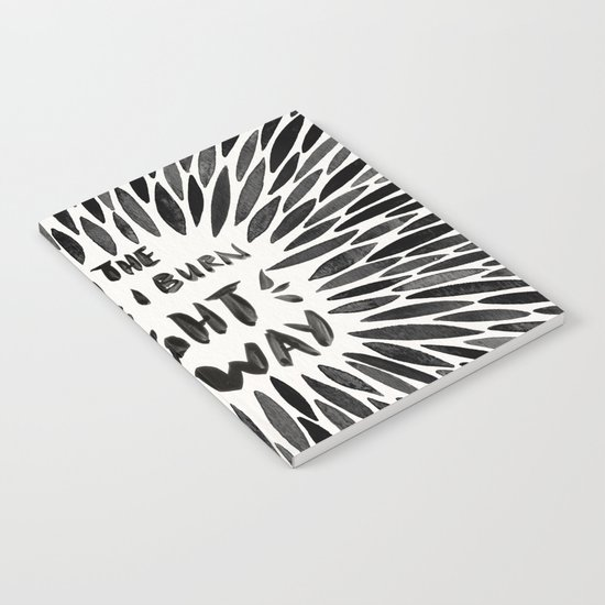 Bridges I Burn – Black Burst Notebook