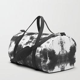 Mudcloth Tie Dye in Black Duffle Bag