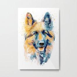 German Shepherd Dog Portrait Metal Print