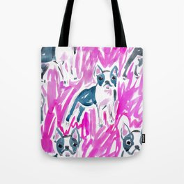 Boston Terrier Stare Tote Bag
