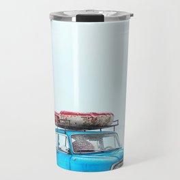 Blue Car Travels (Color) Travel Mug