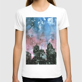 buildings architecture galaxy T-shirt
