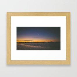 Christchurch Sunset Framed Art Print