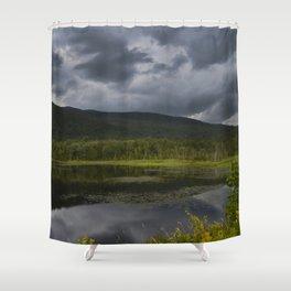 Long Pond in Eden, Vermont Shower Curtain