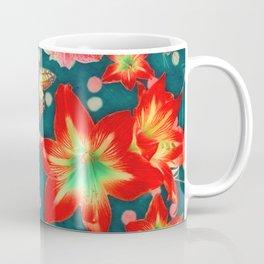 Amaryllis and Butterflies 2 Coffee Mug