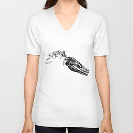 Jurassic Bloom - The Clever Girl Unisex V-Neck
