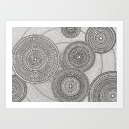 Circles in Pattern Art Print