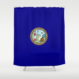 seal of north carolina Shower Curtain