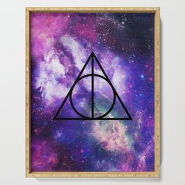 Deathly Hallows Galaxy Serving Tray