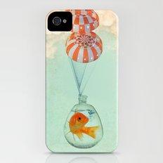 parachute goldfish iPhone (4, 4s) Slim Case