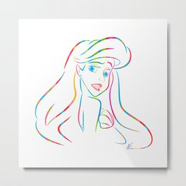 Ariel | Pop Art Metal Print
